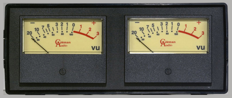 Analog Vu Meter : Checking left right balance meters conversions dbfs